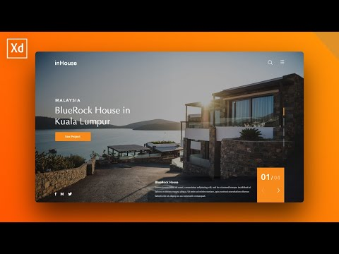 Adobe XD Design Tutorial: Company Website Landing Page thumbnail
