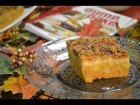 Pumpkin Pie Crunch Recipe (Video) - Dump Cake   RadaCutlery.com