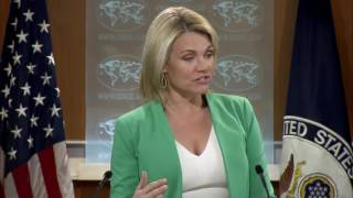 Heather Nauert State Department Press Briefing North Korea & China, Donald Trump Jr Russia 20 July 2017 Video
