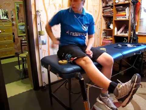 Разработка коленного сустава после снятия гипса видео чтобы суставы не хрустели