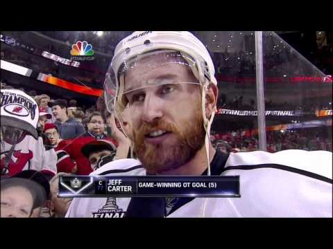 Jeff Carter OT goal. LA Kings vs New Jersey Devils Stanley Cup Game 2 6/2/12 NHL Hockey.