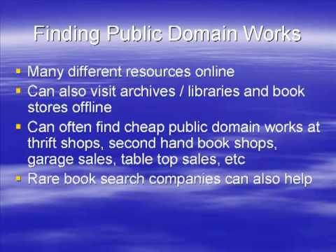 Finding Public Domain Books