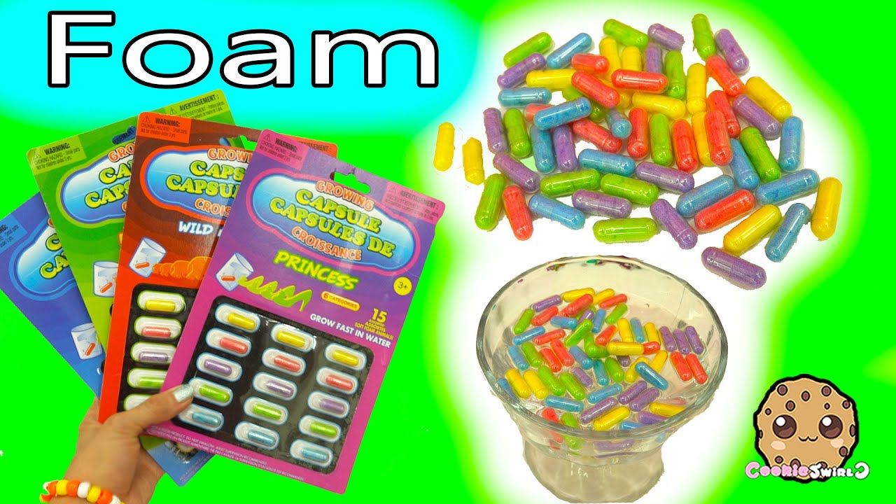 Foam Growing Capsules Surprise Animals or Princess Shapes ...