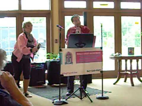 Karaoke entertainment at Lakeview assisted living.
