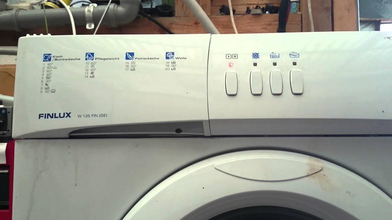 finlux waschmaschine symbole haushaltsger te. Black Bedroom Furniture Sets. Home Design Ideas