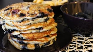 Vegan! Banana-blueberry Pancakes (recipe)