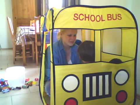 sc 1 st  YouTube & Ben and mom playing in the school bus tent - YouTube