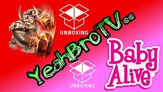 Skylanders Trap Team Wallop Unboxing and Baby Alive Doll Brushy Brushy Unboxing YeahBroTV