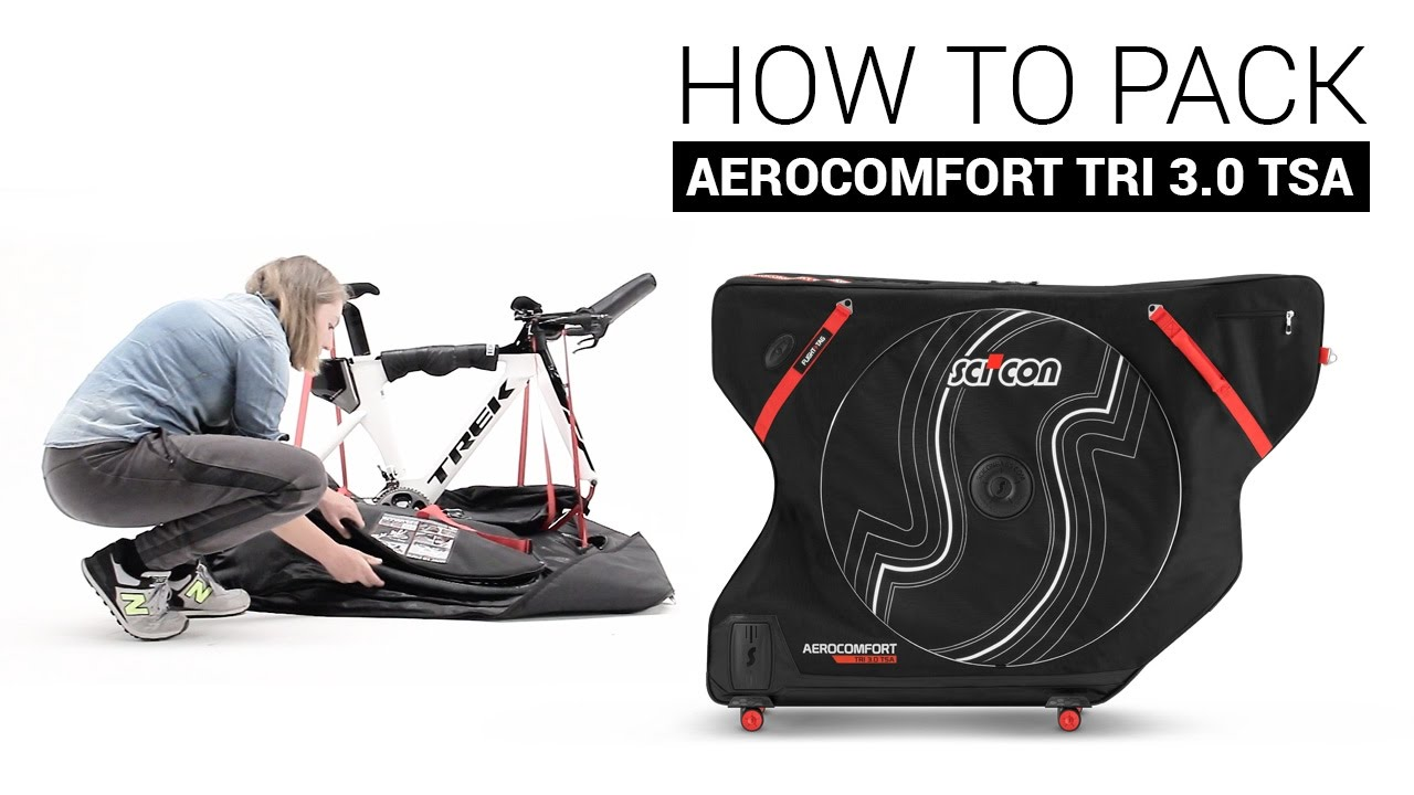 How To Pack The Scicon Aerocomfort Triathlon 3 0 Tsa Bike Travel Bag You