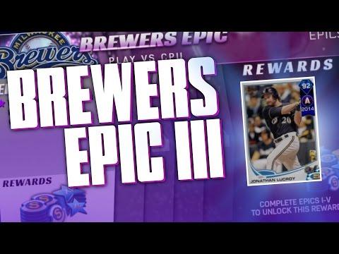 BREWERS EPIC PHASE 3 FOR 92 DIAMOND JONATHAN LUCROY!   MLB THE SHOW 17 DIAMOND DYNASTY