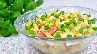 Sałatka chrzanowa z ryżem, jajkiem, papryką i kukurydzą - Jak zrobić - Smakowite Dania