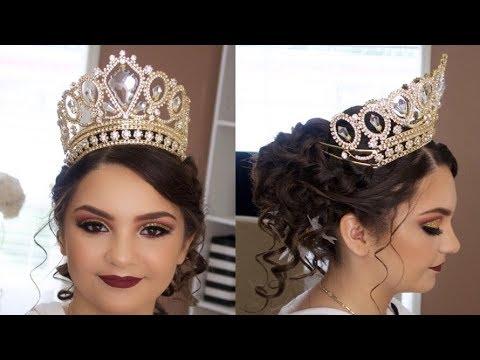 Peinado Y Maquillaje Quincea 241 Era Xv 15 A 241 Os Glam Easy