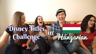 Disney Titles Challenge - Hungarian Edition