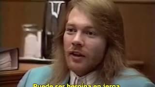 Axl Rose en la corte - Juicio Steven Adler contra GNR (traducido al español)