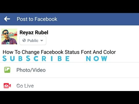 Change Facebook Status Style Font and Color | 2017 | Not
