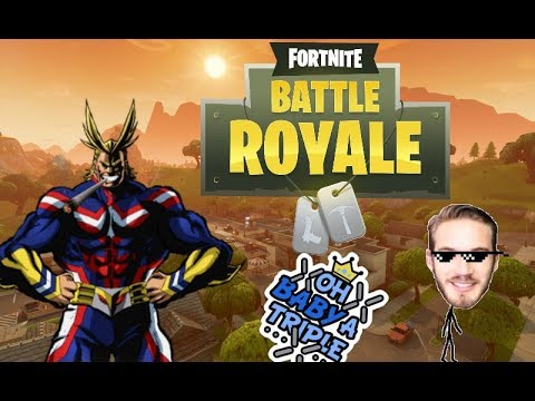 oh baby 4v1 fortnite battle royale feat pewdiepie - pewdiepie fortnite