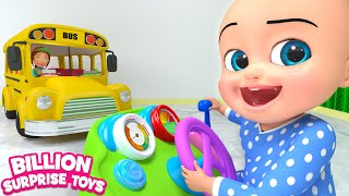 Playground Bus Ride | Kids Songs | Billion Surprise Toys