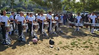 Gold Drumline 2018 in the lot (June 30)