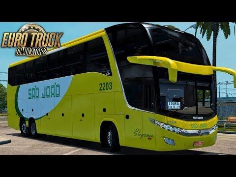 Euro Truck Simulator 2 - Bus | São João - São Paulo/São Grabriel - Detail Map + EAA