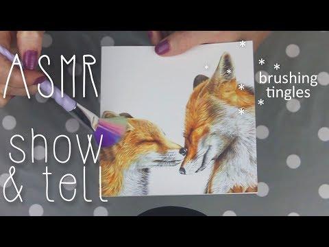 ASMR Show & Tell (🎧 Soft Spoken, Book Sounds, Light Tapping, Brushing)