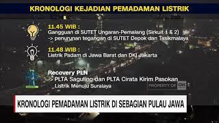 Kronologi Pemadaman Listrik di Sebagian Pulau Jawa
