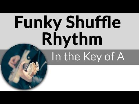 Funky Shuffle Rhythm in A-Funky Blues Guitar Lesson