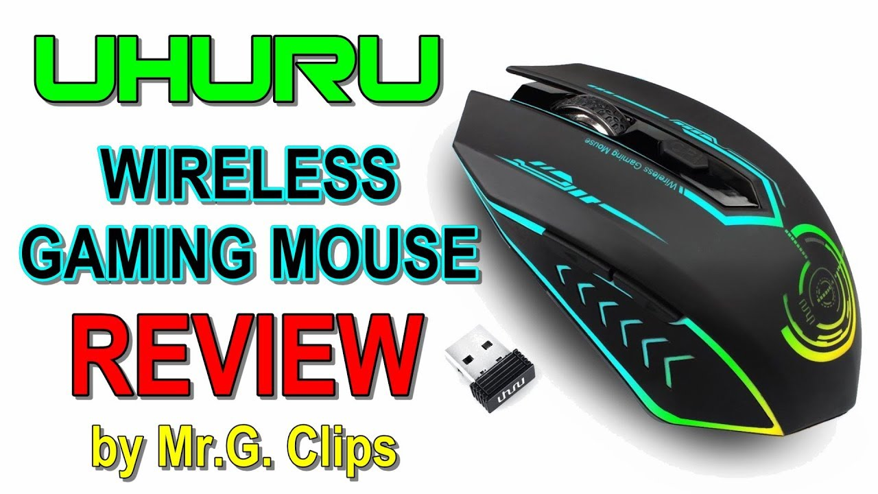 UHURU Wireless Gaming Mouse REVIEW! - YouTube