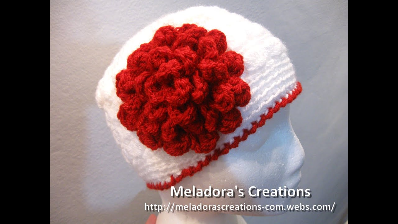 Crochet Flowers Patterns Youtube : Flat Rose Flower - Crochet Tutorial - YouTube