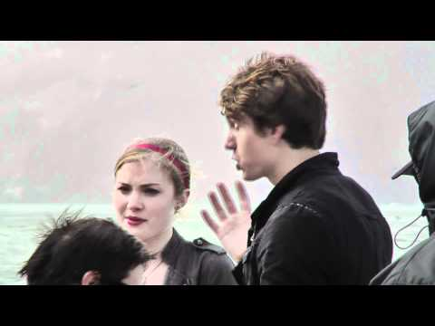 Benjamin Stone & Skyler Samuels On Set In San Francisco