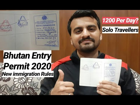 Bhutan 🇧🇹 Entry Permit For Indians 🇮🇳 Travellers 2020 || Documents Required & Immigration Detail