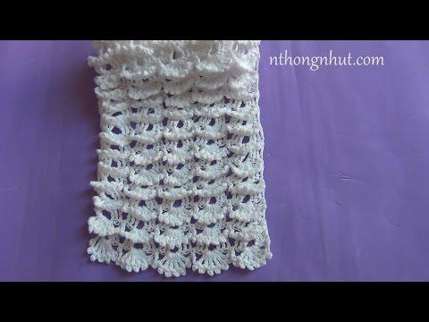 Hướng dẫn móc khăn len - Mẫu số 31