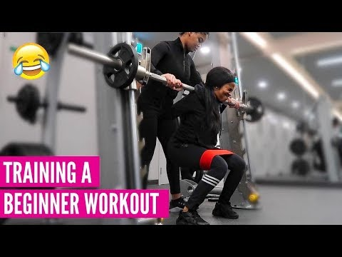 TRAINING A BEGINNER GLUTE & AB WORKOUT | HOW TO START, ADVICE & TIPS, ETC