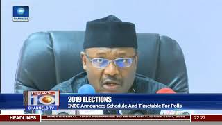 2019 Elections: INEC Announces Schedule And Timetable For Polls