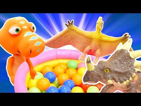 Видео для детей. Поезд Динозавров и игры динозавры