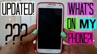 UPDATED! What's On My Samsung Galaxy S5 + Small Case Collection!