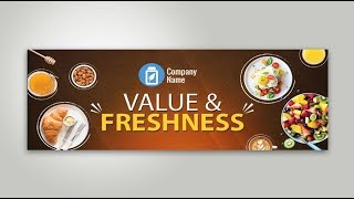 Banner Design In Photoshop In Urdu & Hindi | Photoshop Restaurant Food Banner Design in CS6