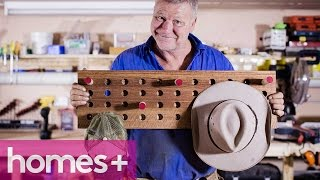 SCOTT CAM DIY: Peg hat rack - homes+