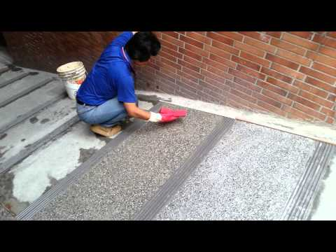 Cement Rendering On Driveway With Small Stone   Part  3