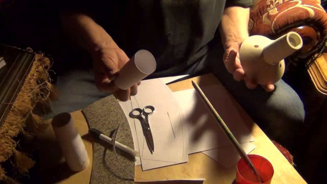 Изготовление конуса на моталку.Намотка пряжи.