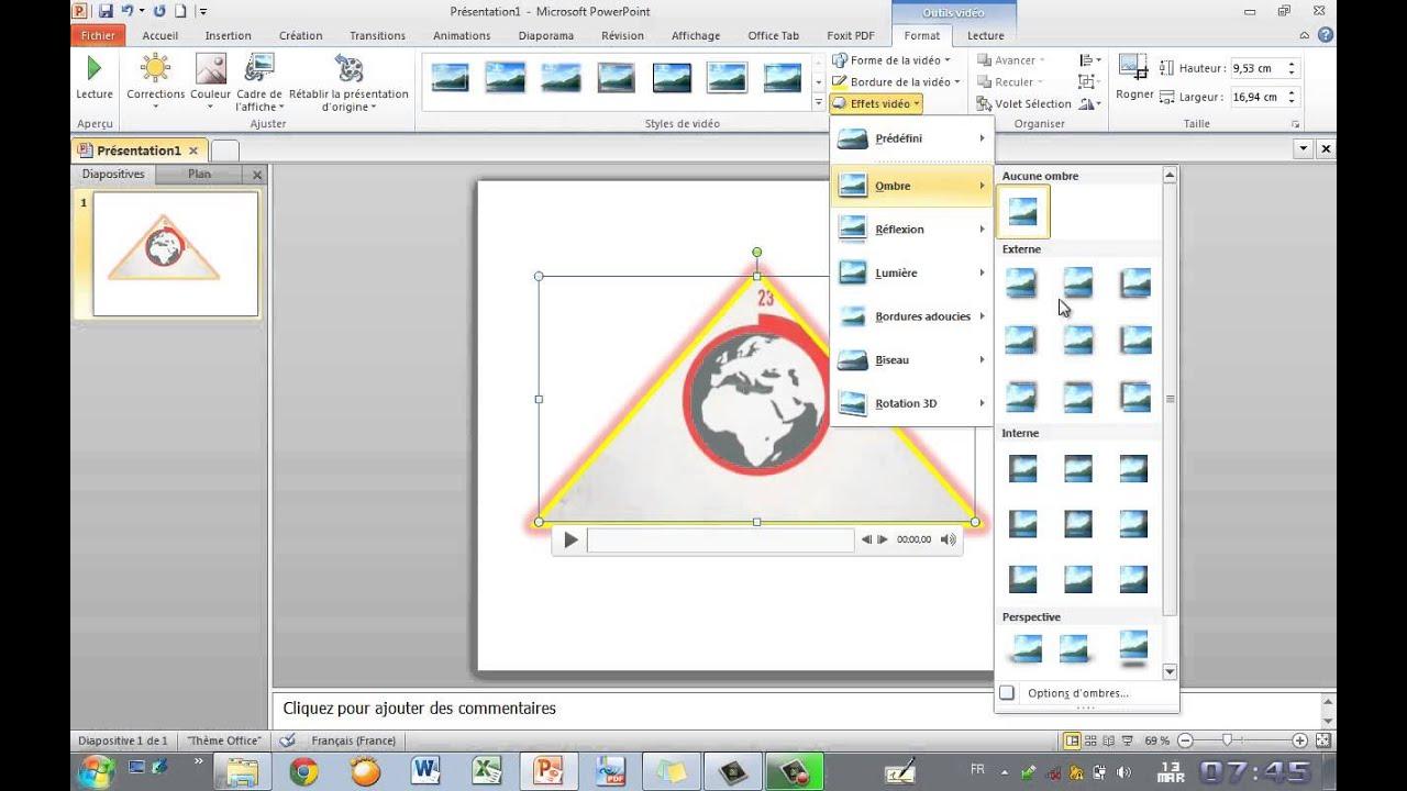 Insérer Et Modifier Une Vidéo Powerpoint 2010