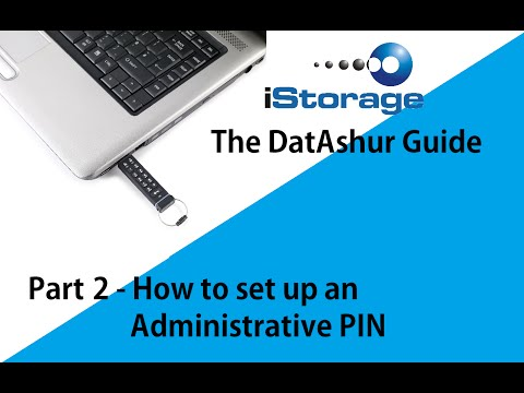 The DatAshur Guide - Part 2, How to set up an Admin PIN for the first time