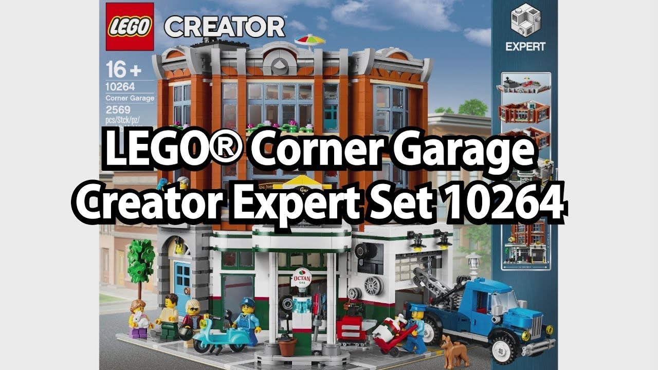 Lego Corner Garage Creator Modul Haus Set Nr 10264 Youtube