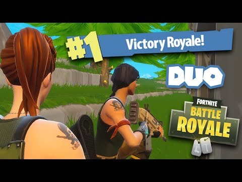 FIRST TIME PLAYING DUO WITH MY DAD IN FORTNITE AND WINNING IT!!!