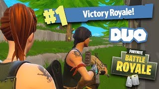 first time playing duo with my dad in fortnite and winning it