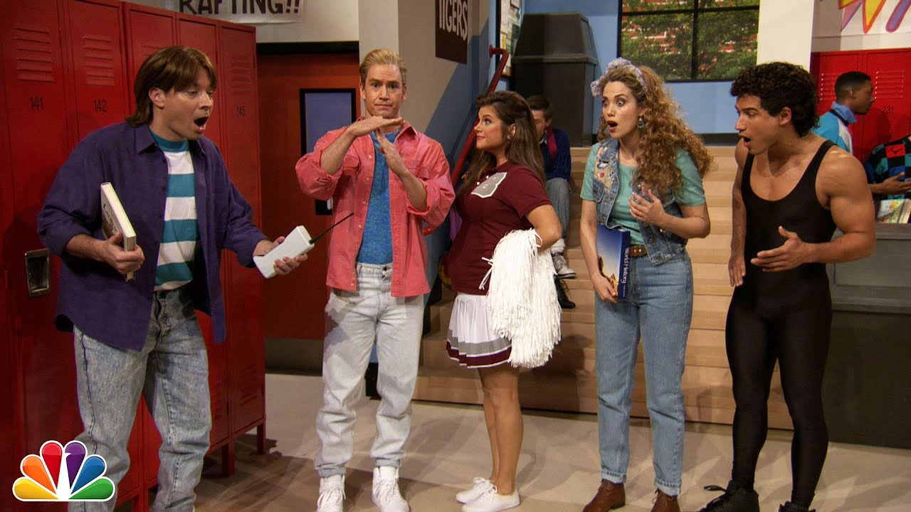 jimmy fallon went to bayside high with saved by the bell cast