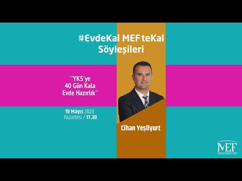 """EvdeKal MEFteKal Söyleşileri - 14  """"YKS'ye 40 Gün Kala Evde Hazırlık"""""""
