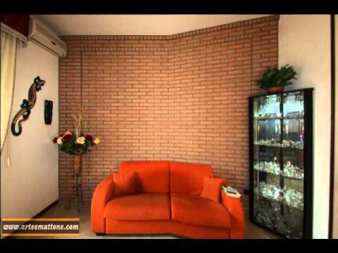 parete rivestita in mattoni a listello da 3 centimetri - YouTube