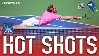 Hot Shot Tsitsipas Makes Ridiculous Diving Volley Against Zverev In Washington 2018