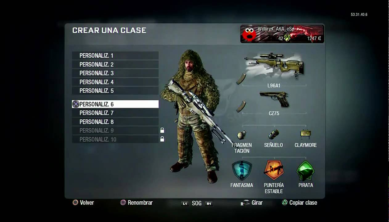 Call of Duty Black Ops: Guia Multijugador [I] Creando la mejor clase [HD] Comentado por Willyrex