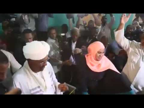 Sudanese President Bashir Votes in Election